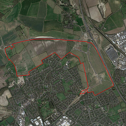 Site Location with Aerial Image A2 600pixels