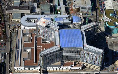 Glasgow Hospital Completion Aerial