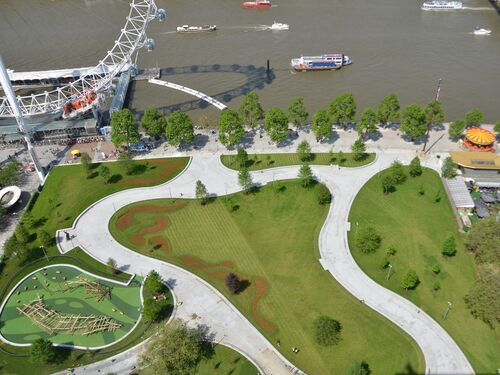 Aerial view of new Jubilee Gardens credit SBEG 30 05 12