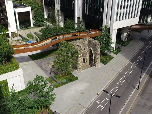 London wall Drone Shot