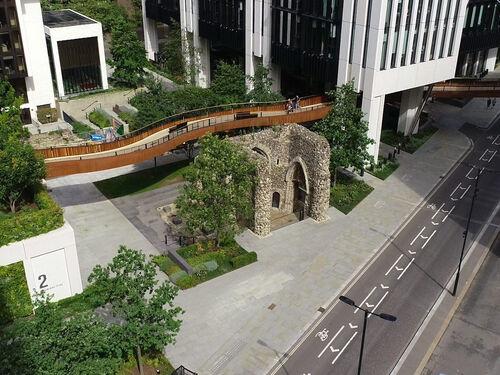 London wall Drone Shot